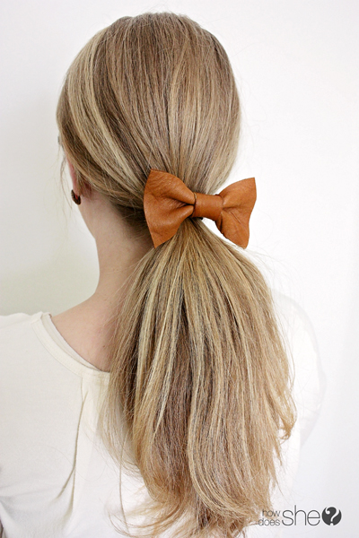 17. leather bow