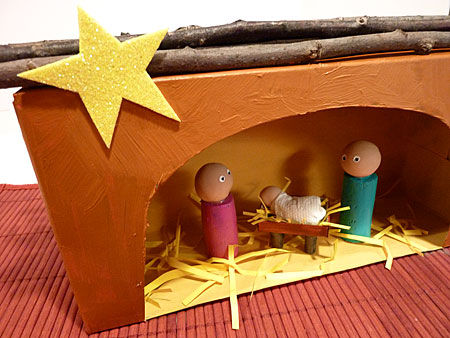 tissue box nativity craft
