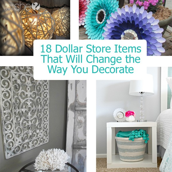 How to decorate with dollar store items 18 ideas for Dollar store items online