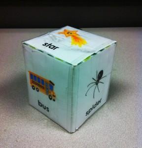 tissue box song cube preschool