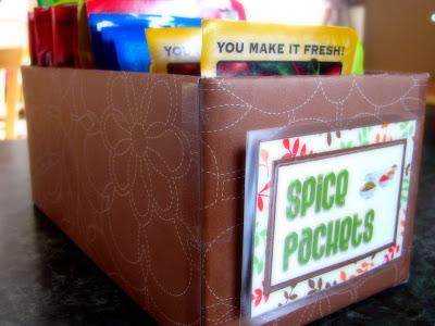 spice packet storage tissue box