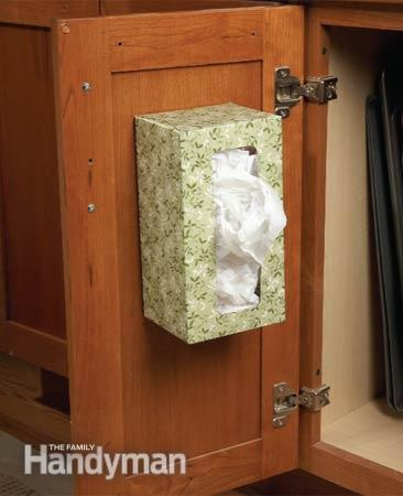 tissue box bag storage