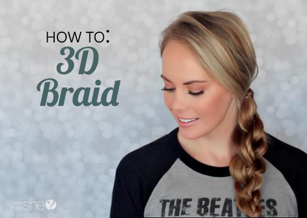 Beautiful 3D braid tutorial - www.howdoesshe.com #3Dbraid
