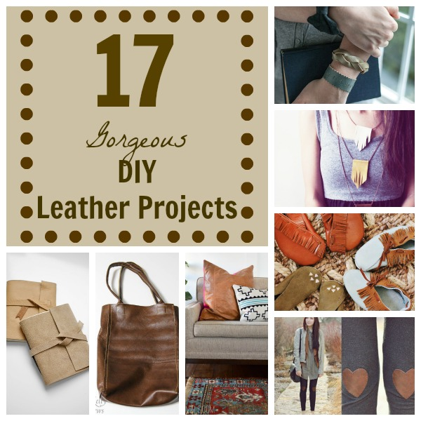 17 Gorgeous DIY Leather Projects