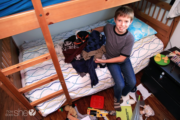 Teach Your Child How to Clean ANY Bedroom in Ten Minutes (Without Using a Blowtorch) (4)