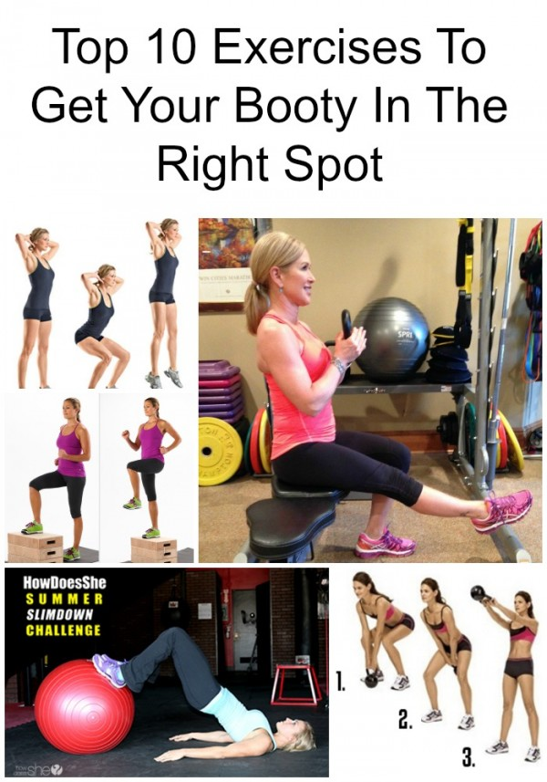 Top 10 Exercises To Get Your Booty In The Right Spot pin