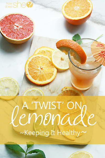 a twist on lemonade - keeping it healthy and natural