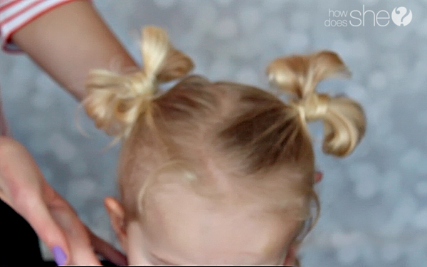 How To Hair Bow Bun Tutorial