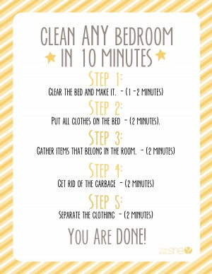 clean any room in 10 minutes