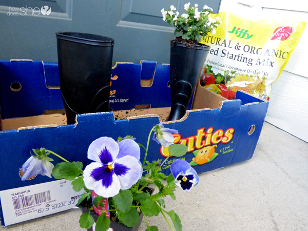 cute rainboot planter tutorial (2)
