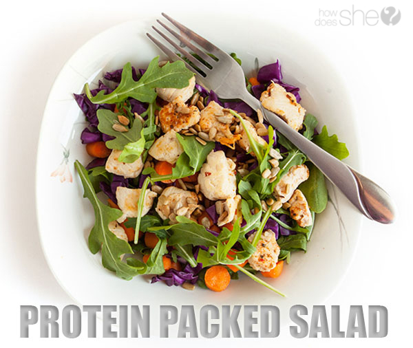 Weight Loss Secret weapon - Protein! Protein packed salad