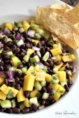 summer mango black bean salad recipe