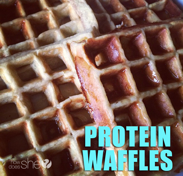 Weight loss secret weapon - protein! Delicious protein waffles