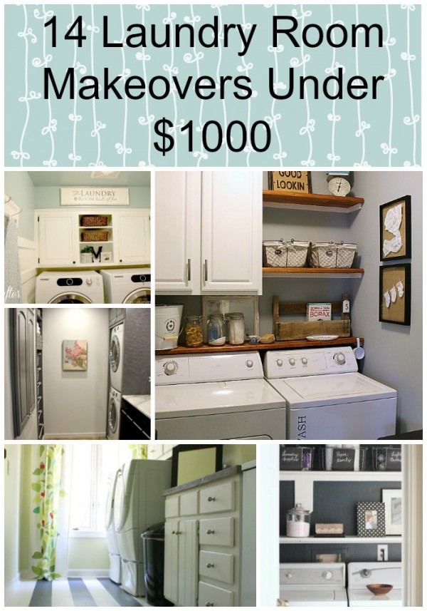 14 Laundry Room Makeovers Under $1000 pin
