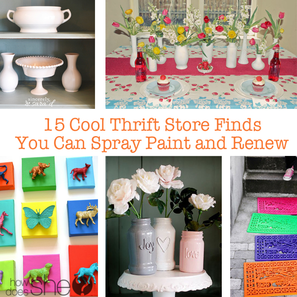 15 Cool Thrift Store Finds You Can Spray Paint and Renew