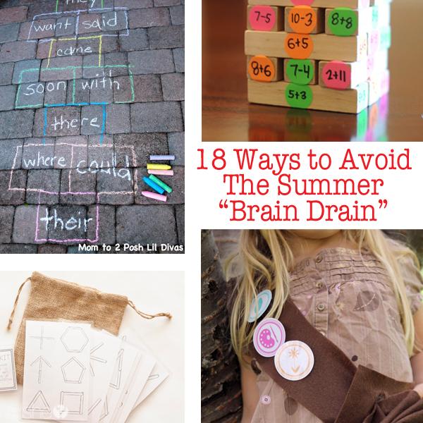 """18 Ways to Avoid the Summer """"Brain Drain"""""""