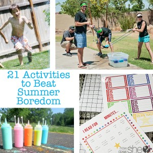 21 Activities to Beat Summer Boredom