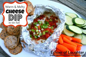 Caming Recipes Cheese Dip in Tin Foil