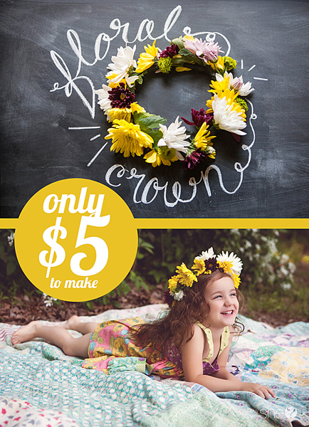 DIY flower crown for only $5 (1)