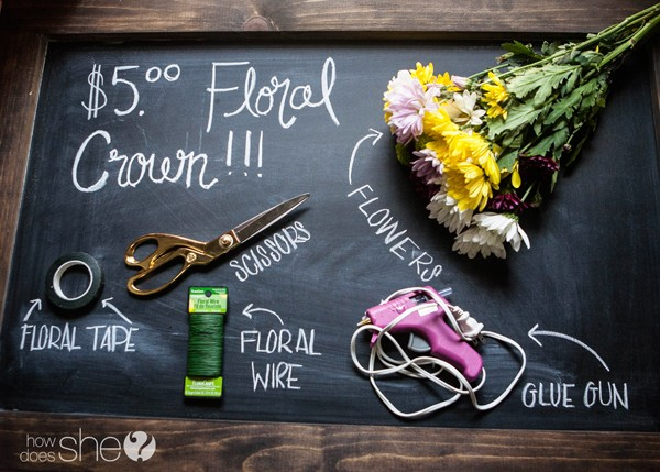 DIY flower crown for only $5 (3)