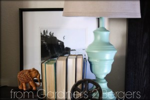 How to Paint brass lamps- mint green fg2b