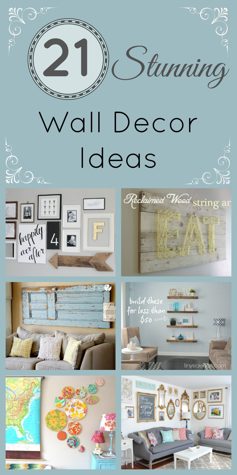 21 stunning wall decor ideas how does she. Black Bedroom Furniture Sets. Home Design Ideas