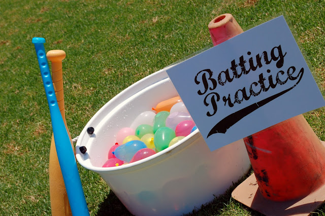 water balloons baseball game