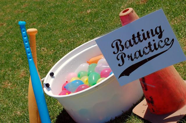 water balloons baseball game