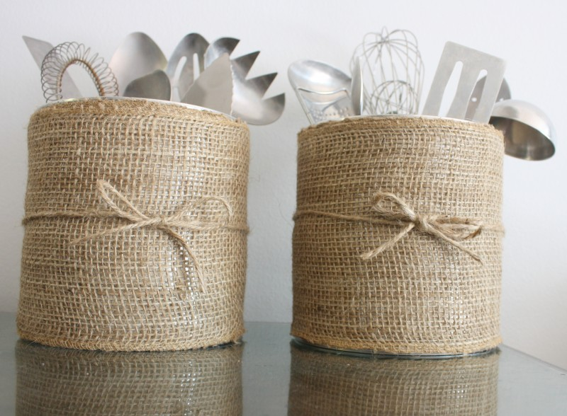 Burlap Canister
