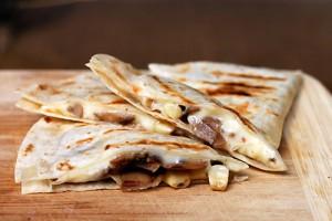 mushroom-corn-quesadilla