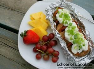 potato boat dinner