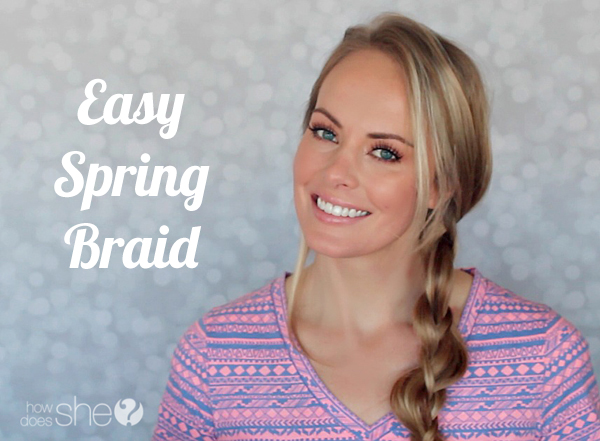 easy spring braid tutorial
