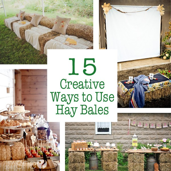 15 creative ways to use hay bales for Bales of hay for decoration
