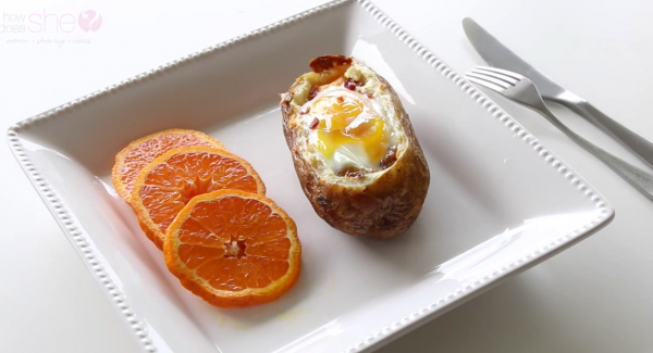 How to Make Twice Baked Potatoes with Egg on Top