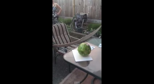 cut watermelon sword