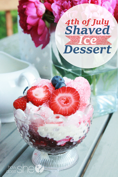 Fourth of July Shaved Ice Dessert