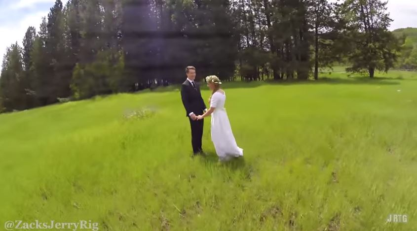 Beautiful wedding video filmed with drone how does she for Best drone for wedding video