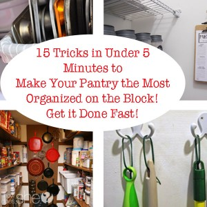 15 Tricks in Under 5 Minutes to Make Your Pantry the Most Organized on the Block! Get it Done Fast!