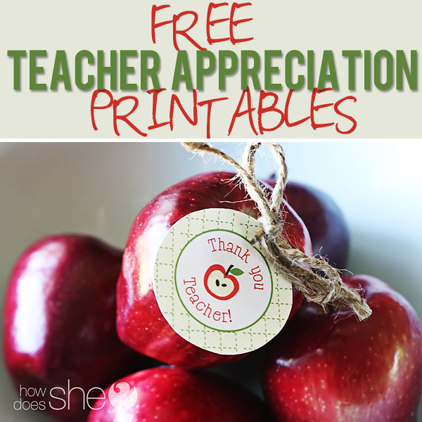 Terrible image within printable teacher appreciation