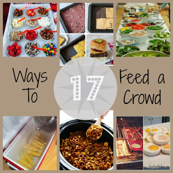 Food for a crowd easy party food for a crowd for all your for Picnic food ideas for large groups