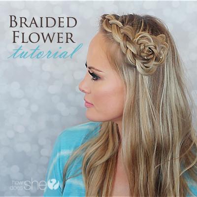 braided flower tutorial featured