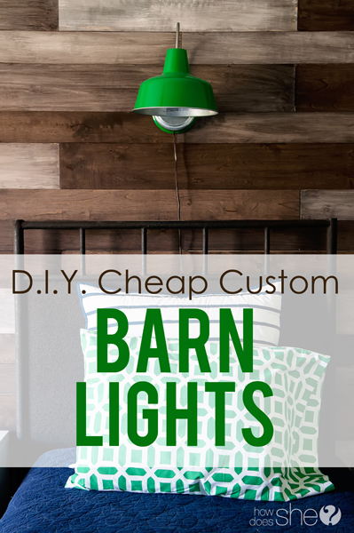 DIY Cheap Custom Barn Lights
