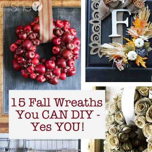 15 Fall Wreaths You CAN DIY - Yes YOU!