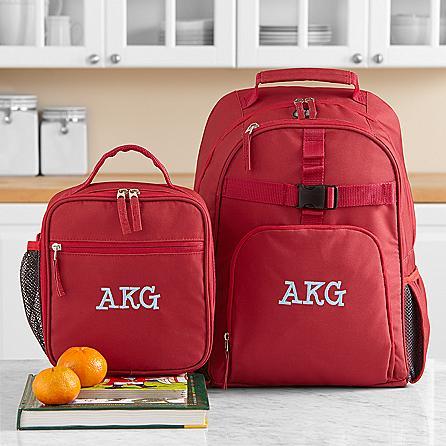 monogrammed backpack