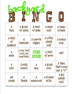 Back Yard Bingo