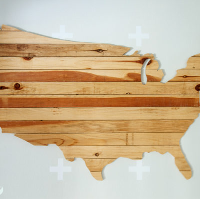 DIY USA Wall Art