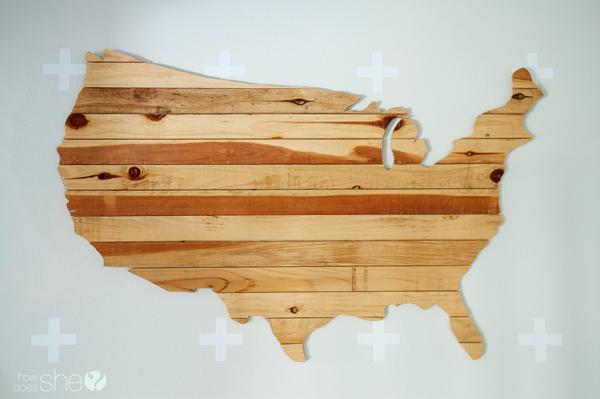 DIY arte de la pared de EE. UU. (1)