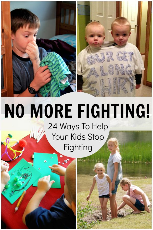 STOP FIGHTING!  24 Ways To Help Your Kids Stop Fighting