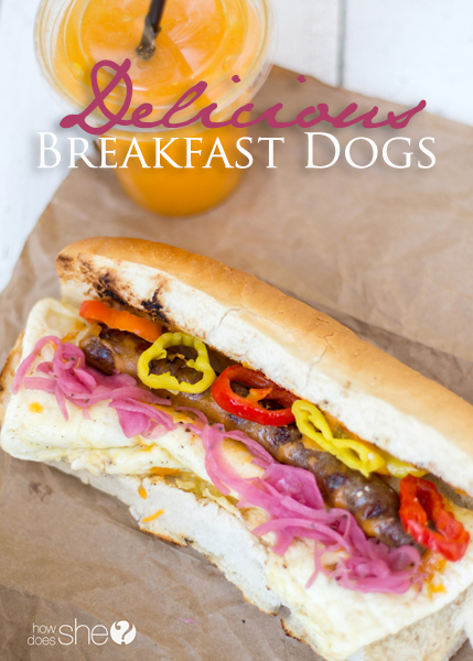 delicious breakfast dogs