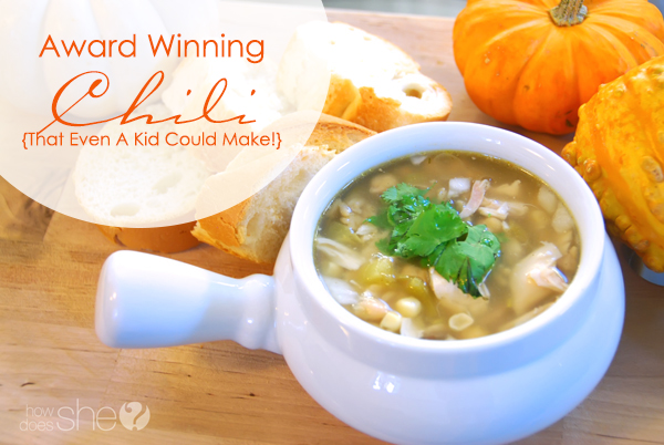 Award Winning Chili- That Even A Child Can Make